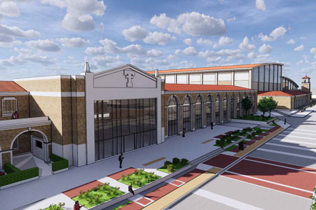 Rendering of the Football Training Facility Expansion