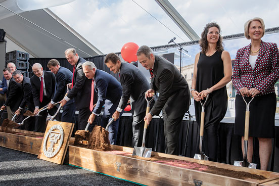Texas Tech University System and state officials break ground on the new School of Veterinary Medicine