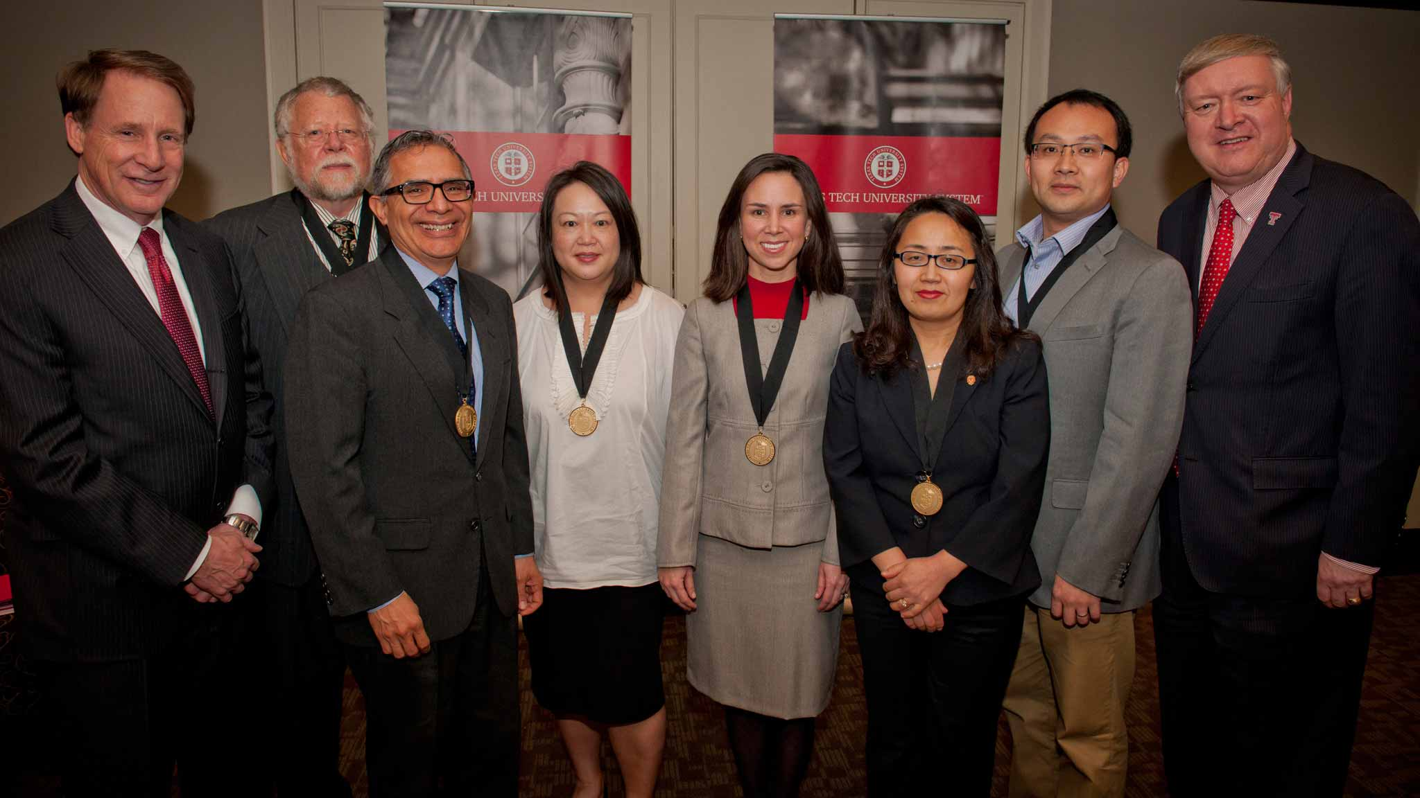 Texas Tech University distinguished faculty award recipients