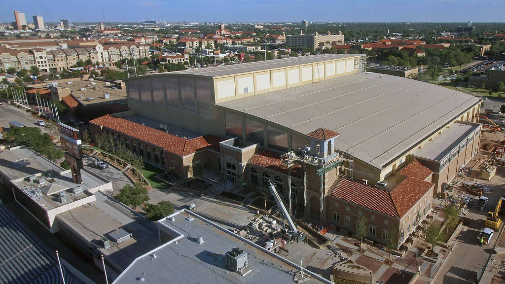 Construction progress on the Sports Performance Center