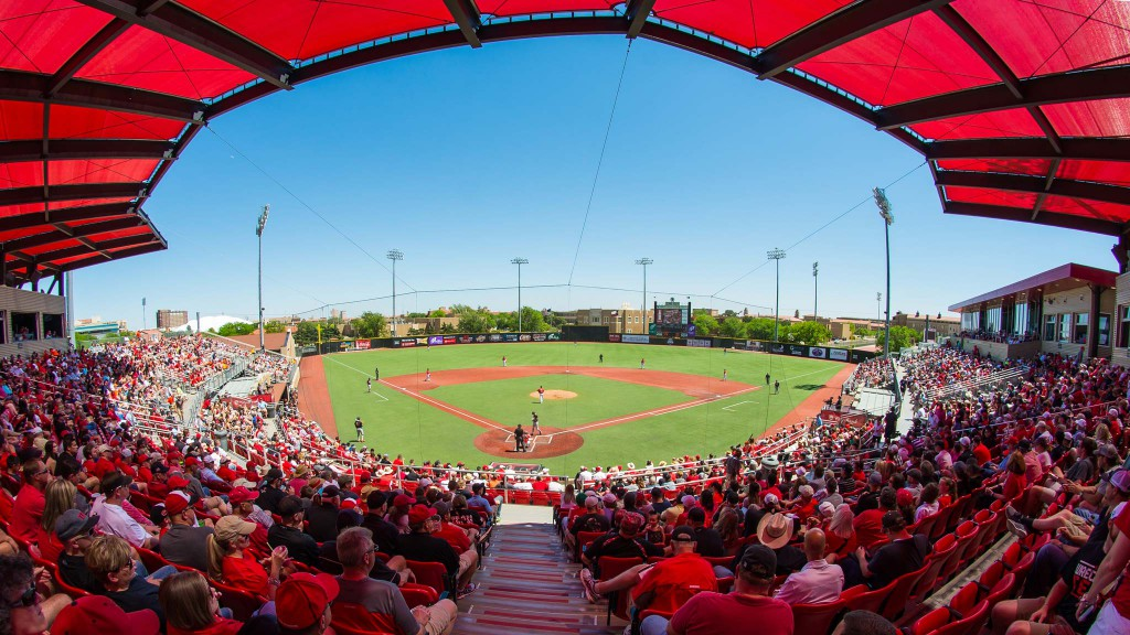 View from the grandstands at Rip Griffin Park