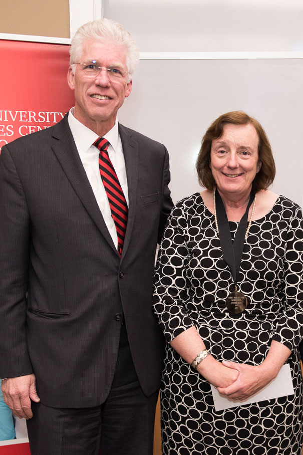 President Richard Lange and Maureen Francis