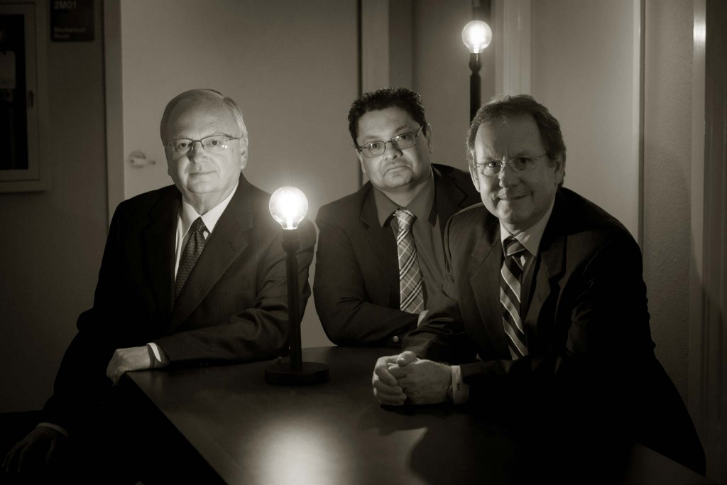Keith Stretcher, Dr. Bobby Jain and Brent D. Hilliard