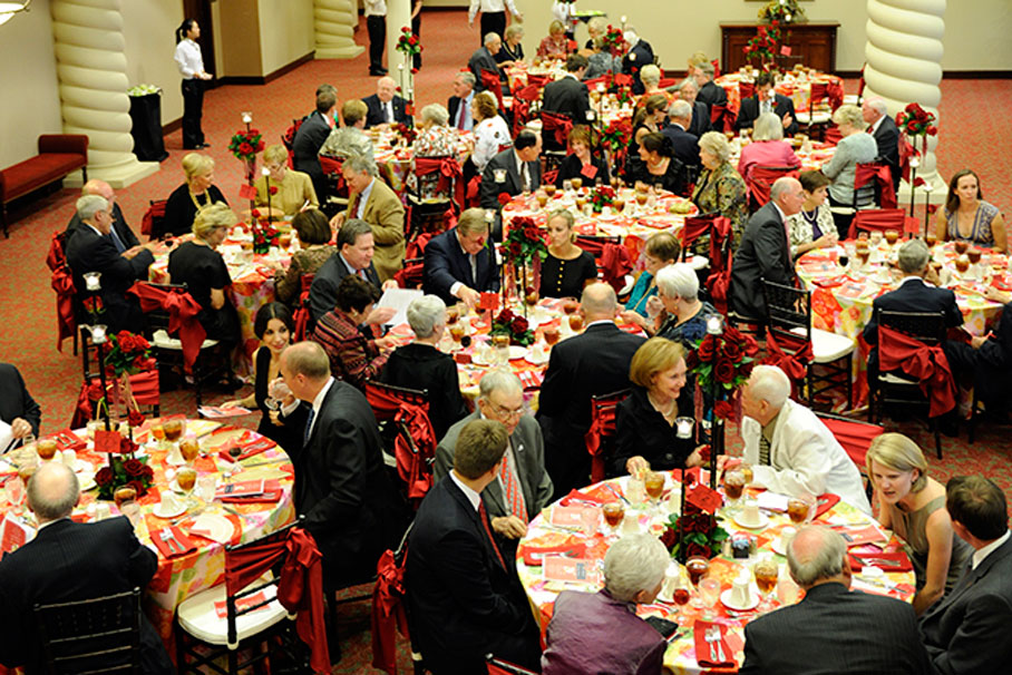 A view of the dining space at the Matador Society Gala