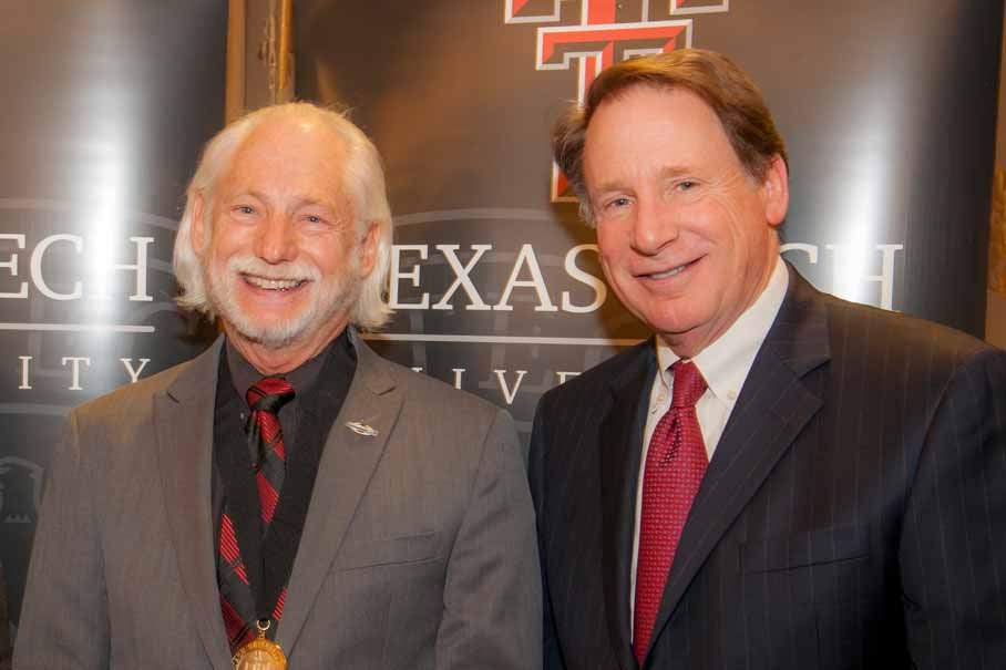 Ron Milam and Chancellor Robert Duncan