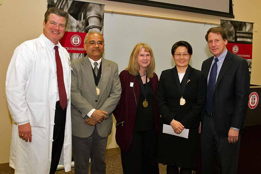 Chancellor's Council distinguished faculty award recipients at Texas Tech University Health Sciences Center
