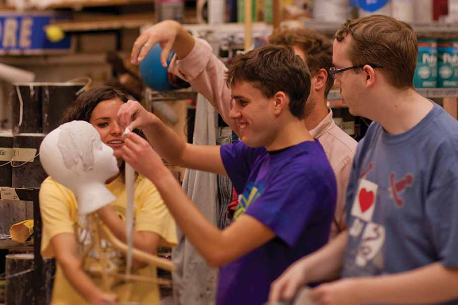 Autism students learn stagecraft