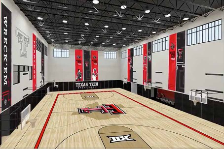 Rendering of practice court