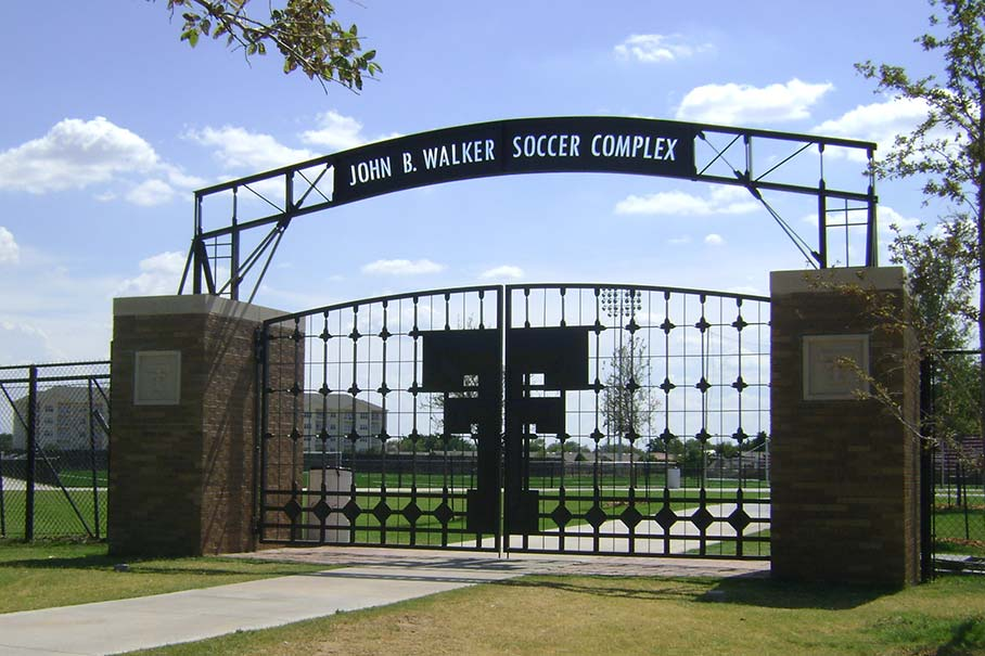 Gate to the John B. Walker Soccer Complex