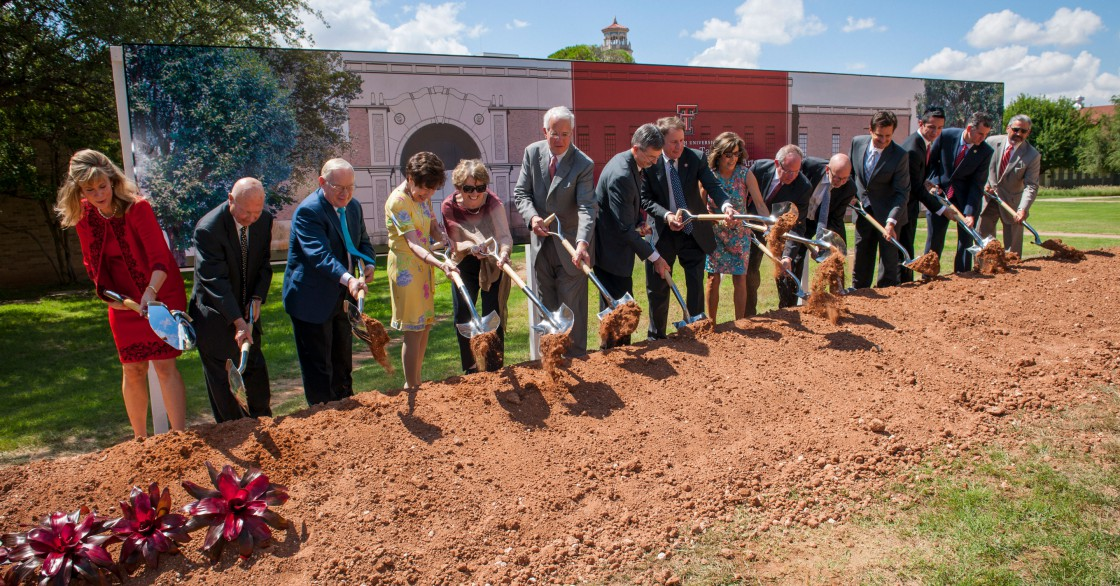 Donors and Texas Tech University System officials break ground on the new School of Theatre & Dance Complex