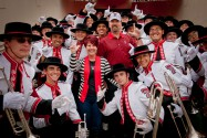 Andy and Nan Crowson with members of the Goin' Band from Raiderland