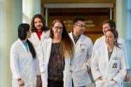 Kendra Rumbaugh with TTUHSC medical students