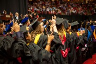 Texas Tech University students at commencement