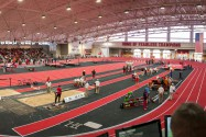 Competitors and fans enjoy the first-annual Corky Classic indoor track and field meet