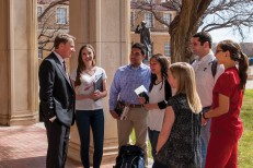 Robert Duncan with Texas Tech University System students
