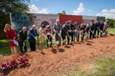 Texas Tech University System officials and donors break ground on the new School of Theatre & Dance Complex