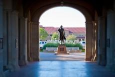 Preston Smith statue at the Texas Tech University Administration Building
