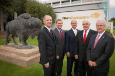 PlainsCapital Bank officers with Wes Kittley and Kirby Hocutt