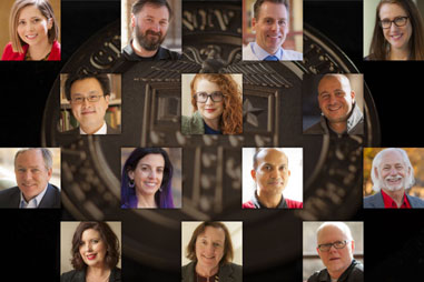 Recipients of the 2018 Chancellor's Council Distinguished Teaching and Research Awards