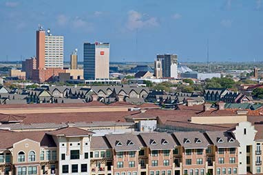 View of the downtown skyline of Lubbock, Texas